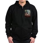Black Footed Wallaby Zip Hoodie (dark)