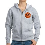 Basketball Smiley Women's Zip Hoodie