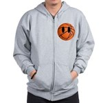 Basketball Smiley Zip Hoodie