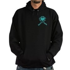 Teal Ribbon of Words Hoodie