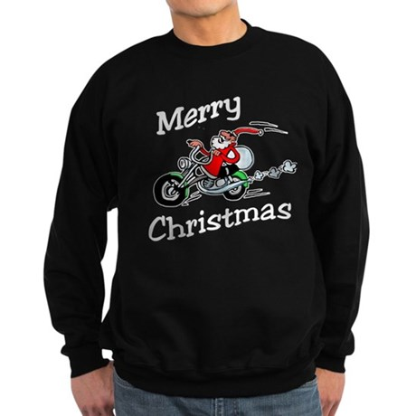 Motorcycle Santa Sweatshirt (dark)