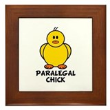 Paralegal Chick Framed Tile