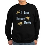 I Love Rescue Mutts Sweatshirt (dark)