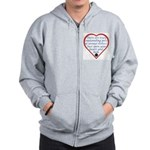 Open Your Heart Zip Hoodie