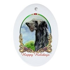 Scottish Deerhound Holiday Keepsake (Oval)