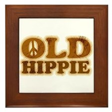 Old Hippie Peace Framed Tile