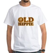 Old Hippie Peace White T-Shirt