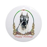 Schnauzer Happy Holiday Keepsake (Round)