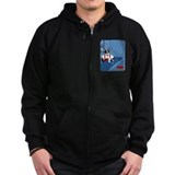 Boston Terrier Bartender Zip Hoody
