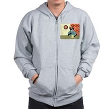 Boston Terrier Beer Pub Zip Hoodie