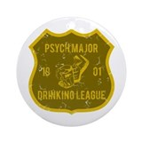 Psych Major Drinking League Ornament (Round)