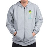 Frog & Olive in Martini Glass Zip Hoodie