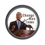 Barack Obama Change Has Come Wall Clock
