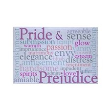 Jane Austen Pride and Prejudice Rectangle Magnet