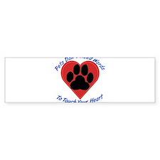 Touch Your Heart Bumper Sticker (50 pk)