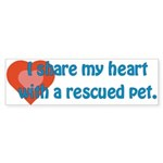 I Share My Heart Bumper Sticker (50 pk)