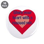 "Share Your Heart 3.5"" Button (10 pack)"