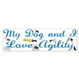I Love Agility Bumper Sticker (50 pk)