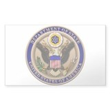 State Dept. Seal Rectangle Sticker 10 pk)