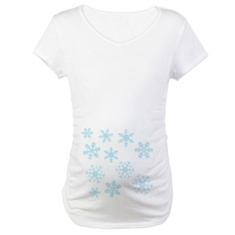 Snowflakes Maternity Shirt