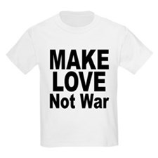 Make Love Not War (Front) Kids T-Shirt