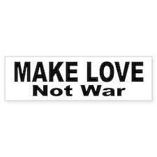 Make Love Not War Bumper Car Sticker