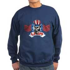 Patriotic Skull Sweater
