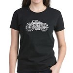 Vintage Motorcycle Women's Dark T-Shirt