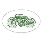 Vintage Motorcycle Oval Sticker