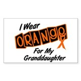 I Wear Orange For My Granddaughter 8 Decal
