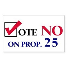 Vote NO on Prop 25 Rectangle Decal