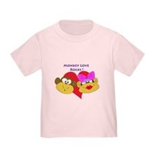 """Monkey Love Rocks!"" T"