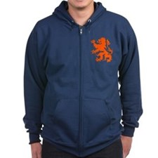 Dutch Lion Zipped Hoodie