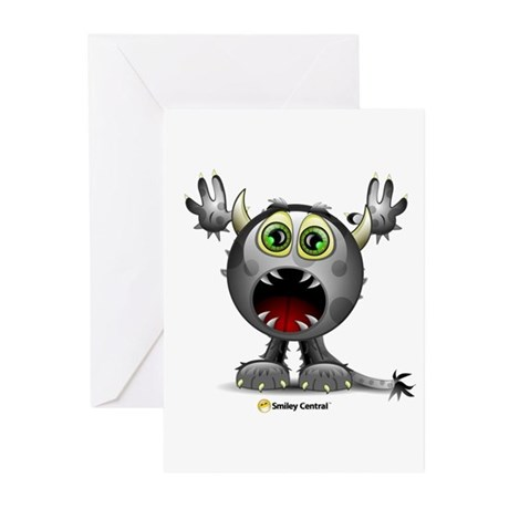 Monster Horns Greeting Cards (Pk of 10)