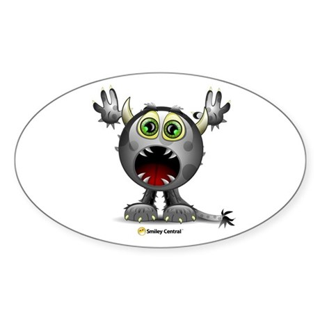 Monster Horns Oval Sticker
