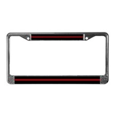 Firefighter Thin Red Line License Plate Frame