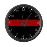 Firefighter Thin Red Line Large Wall Clock