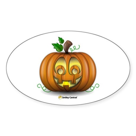 Pumpkin Oval Sticker