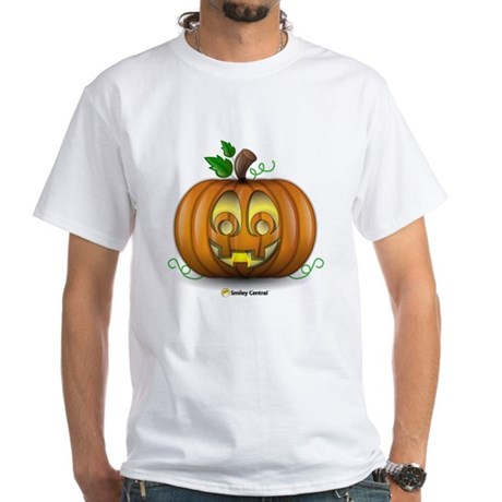 Pumpkin White T-Shirt