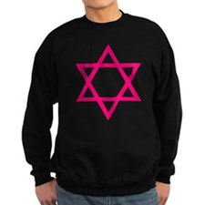 Pink Star of David Sweatshirt