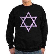 Lavender Star of David Sweatshirt