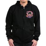 Colorful Camel Design Zip Hoodie (dark)