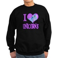 I Love (Heart) Unicorns Sweatshirt