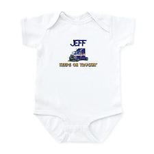 Jeff Keeps on Truckin Infant Bodysuit