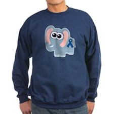 Blue Awareness Ribbon Goofkin Sweatshirt