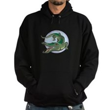 Alligator Circle Design Hoodie