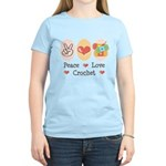 Peace Love Crochet Women's Light T-Shirt