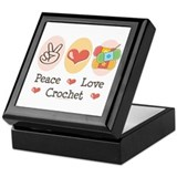 Peace Love Crochet Keepsake Box