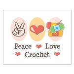 Peace Love Crochet Small Poster