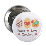"Peace Love Crochet 2.25"" Button (100 pack)"